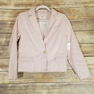 Forever 21 Pink Pin Stripe Blazer